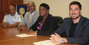 Prime Minister Romeo-Marlin signs four hundred thousand dollars from Trust Fund for Police station repairs